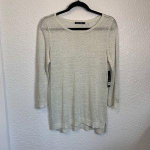 NWT Nic+Zoe Light Gray Metallic Sweater